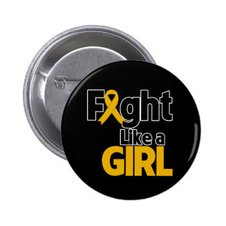 Appendix Cancer Fight Like a Girl 2 Inch Round Button
