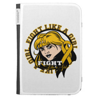 Appendix Cancer Fight Like A Girl Attitude Kindle Cases