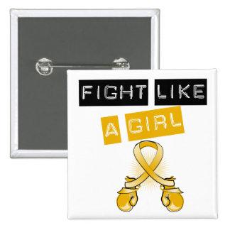 Appendix Cancer Fight Like A Girl 2 Inch Square Button