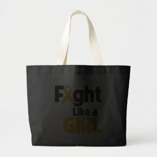 Appendix Cancer Fight Like a Girl Canvas Bags