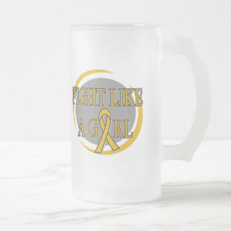 Appendix Cancer Fight Like A Girl Circular Coffee Mug