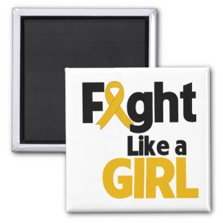 Appendix Cancer Fight Like a Girl Fridge Magnet