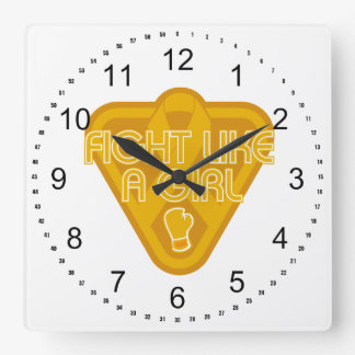 Appendix Cancer Fight Like A Girl Glove Wall Clocks