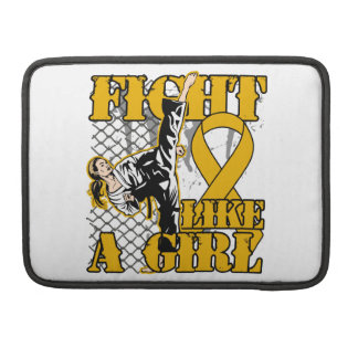 Appendix Cancer Fight Like A Girl Kick Sleeve For MacBooks