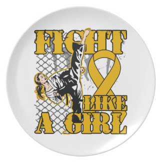 Appendix Cancer Fight Like A Girl Kick Dinner Plate