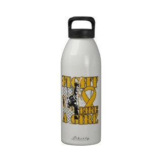 Appendix Cancer Fight Like A Girl Kick Drinking Bottle