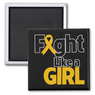Appendix Cancer Fight Like a Girl 2 Inch Square Magnet