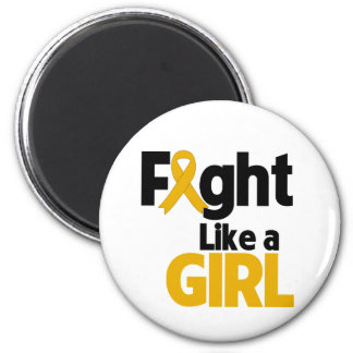 Appendix Cancer Fight Like a Girl 2 Inch Round Magnet