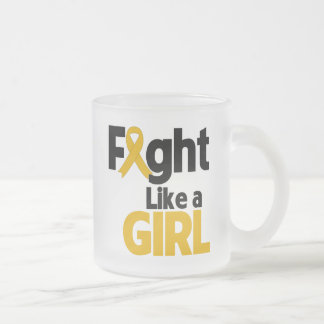 Appendix Cancer Fight Like a Girl 10 Oz Frosted Glass Coffee Mug