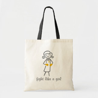 Appendix Cancer Fight Like A Girl (Retro) Tote Bags