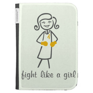 Appendix Cancer Fight Like A Girl (Retro) Kindle Keyboard Case