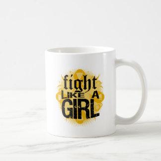 Appendix Cancer Fight Like A Girl Rock Ed. Classic White Coffee Mug