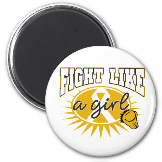 Appendix Cancer Fight Like A Girl Sporty Callout Refrigerator Magnet