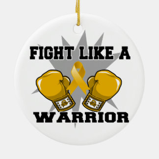 Appendix Cancer Fight Like a Warrior Double-Sided Ceramic Round Christmas Ornament