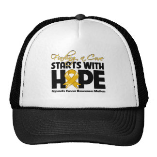 Appendix Cancer Finding a Cure Starts With Hope Trucker Hat