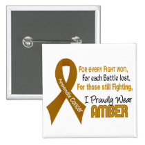 Appendix Cancer For Every…..I Proudly Wear Amber 1 Button