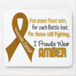 Appendix Cancer For Every…..I Proudly Wear Amber 1 Mouse Pad