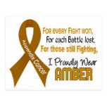 Appendix Cancer For Every…..I Proudly Wear Amber 1 Postcard