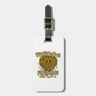 Appendix Cancer Heart I Fight Like A Girl Luggage Tags