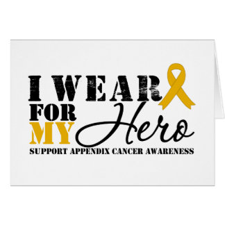 Appendix Cancer HERO Greeting Cards