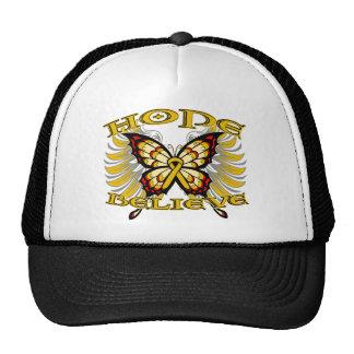 Appendix Cancer Hope Believe Butterfly Trucker Hat