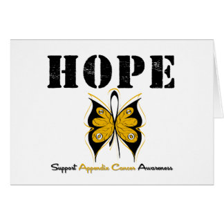 Appendix Cancer HOPE Butterfly Greeting Card