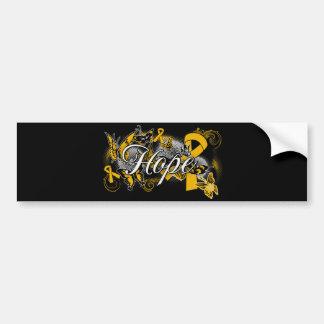 Appendix Cancer Hope Garden Ribbon Car Bumper Sticker