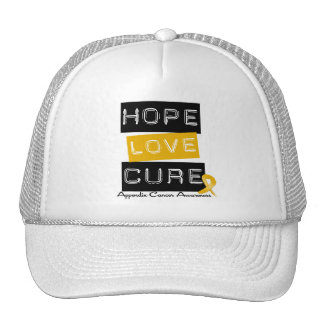 Appendix Cancer Hope Love Cure Trucker Hat