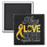 Appendix Cancer Hope Love Cure Magnets
