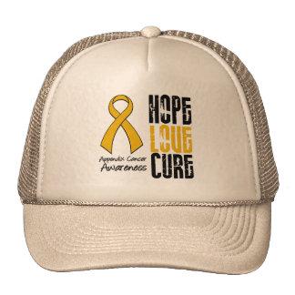 Appendix Cancer Hope Love Cure Ribbon Trucker Hat