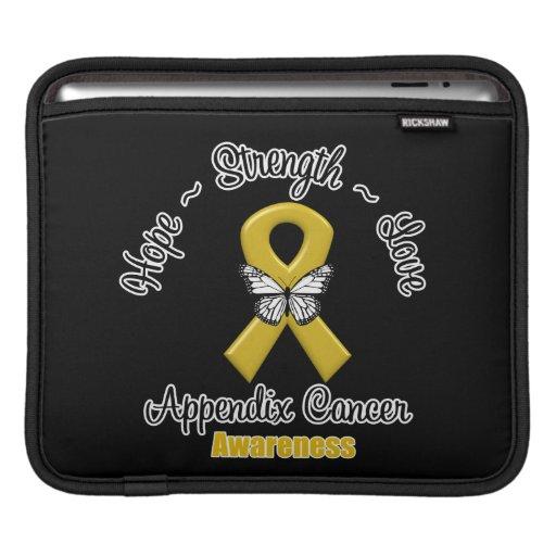Appendix Cancer Hope Strength Love iPad Sleeves