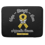 Appendix Cancer Hope Strength Love Sleeves For MacBook Pro