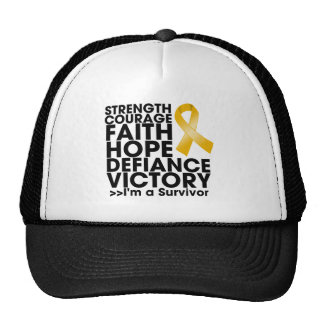Appendix Cancer Hope Strength Victory Trucker Hat
