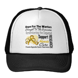 Appendix Cancer Hope Tribute Collage Trucker Hat