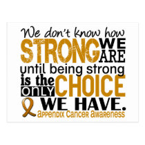 Appendix Cancer How Strong We Are Postcard