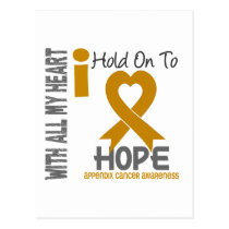 Appendix Cancer I Hold On To Hope Postcard