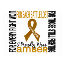 Appendix Cancer I Proudly Wear Amber 2 Postcard