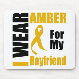 Appendix Cancer I Wear Amber Boyfriend Mouse Pad