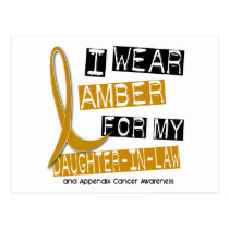 APPENDIX CANCER I Wear Amber Daughter-In-Law 37 Postcard