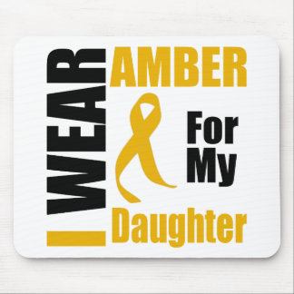 Appendix Cancer I Wear Amber Daughter Mouse Pad