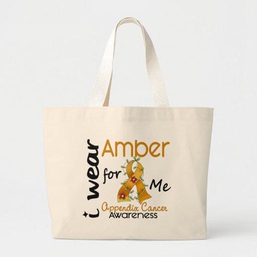 Appendix Cancer I Wear Amber For Me 43 Canvas Bag