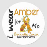 Appendix Cancer I Wear Amber For Me 43 Stickers