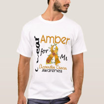 Appendix Cancer I Wear Amber For Me 43 T-Shirt