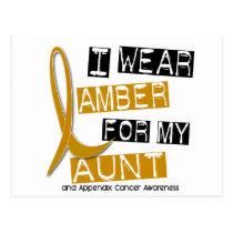 APPENDIX CANCER I Wear Amber For My Aunt 37 Postcard