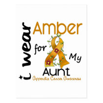 Appendix Cancer I Wear Amber For My Aunt 43 Postcard