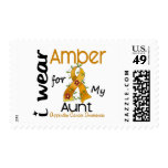 Appendix Cancer I Wear Amber For My Aunt 43 Stamps