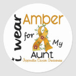 Appendix Cancer I Wear Amber For My Aunt 43 Sticker