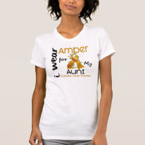 Appendix Cancer I Wear Amber For My Aunt 43 T-Shirt