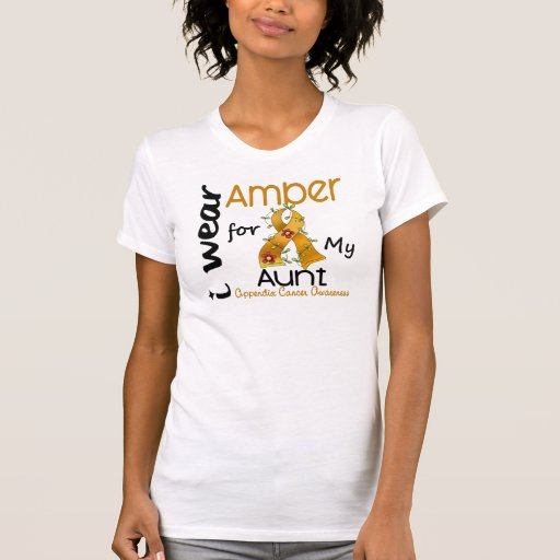 Appendix Cancer I Wear Amber For My Aunt 43 Tee Shirt