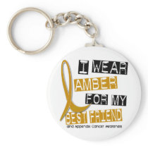 APPENDIX CANCER I Wear Amber For My Best Friend 37 Keychain